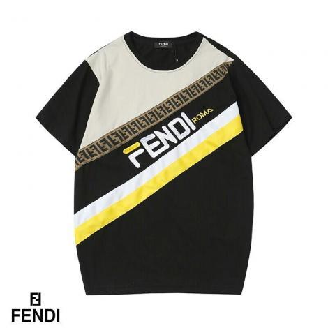 フェンディ FENDI メンズ/レディース 4色 クルーネック Tシャツ おすすめブランドコピー激安販売専門店