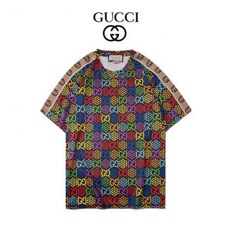 グッチ GUCCI メンズ/レディース クルーネック Tシャツ カップル 定番人気ブランドコピー専門店