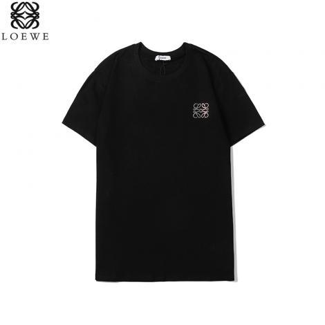 ロエベ LOEWE メンズ/レディース 2色 クルーネック Tシャツ 綿 カップル おすすめスーパーコピー激安販売