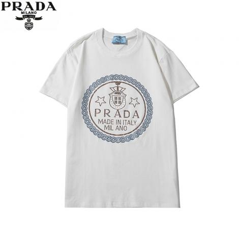 プラダ PRADA メンズ/レディース クルーネック Tシャツ 綿 2色 2020年春夏新作コピー代引き安全口コミ後払い