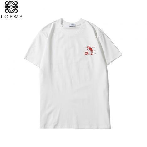ロエベ LOEWE メンズ/レディース クルーネック Tシャツ 綿 2色 カップル  新品同様スーパーコピー安全後払い