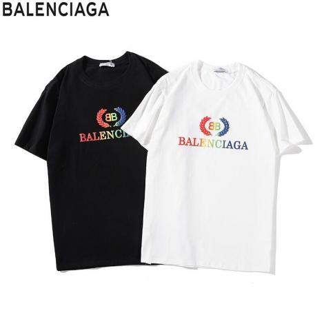 ブランド通販バレンシアガ BALENCIAGA メンズ/レディース カップル クルーネック 2色 Tシャツ 綿 人気 おすすめ激安代引き口コミ