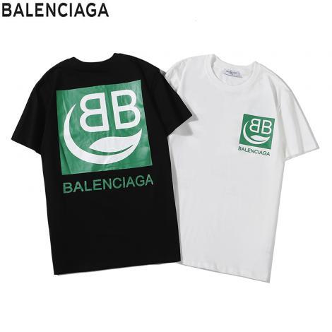 ブランド後払いバレンシアガ BALENCIAGA メンズ/レディース 2色 クルーネック Tシャツ 綿 新品同様ブランドコピー安全後払い専門店