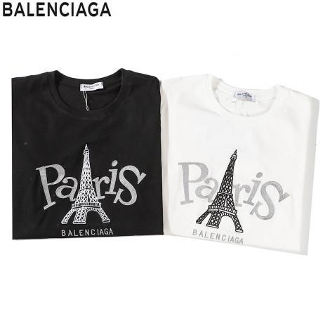 バレンシアガ BALENCIAGA メンズ/レディース 2色 クルーネック Tシャツ 綿 2020年新作激安販売専門店