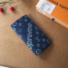 ブランド可能シュプリーム Supreme 二つ折財布 デニム 2色 人気 62665最高品質コピー