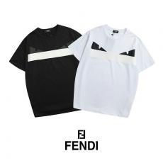 フェンディ FENDI メンズ/レディース 2色 クルーネック Tシャツ 綿 カップル  人気ブランドコピー激安安全後払い販売専門店