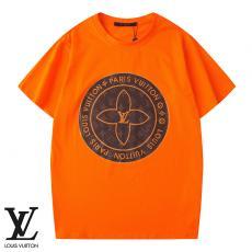 ルイヴィトン LOUIS VUITTON メンズ/レディース クルーネック Tシャツ 綿 カップル 新品同様コピー最高品質激安販売
