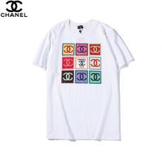 シャネル CHANEL メンズ/レディース 2色 クルーネック Tシャツ 綿 カップル  おすすめスーパーコピーブランド