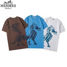 エルメス  HERMES メンズ/レディース 3色 クルーネック Tシャツ 綿  良品スーパーコピー代引き国内発送