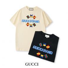 ブランド販売グッチ GUCCI メンズ/レディース クルーネック Tシャツ 綿 2色  新品同様激安 代引き口コミ