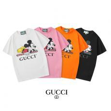 グッチ GUCCI メンズ/レディース カップル 4色 クルーネック Tシャツ 綿 送料無料ブランドコピー安全後払い