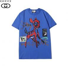 ブランド可能グッチ GUCCI メンズ/レディース クルーネック Tシャツ 2色 綿  定番人気ブランドコピー国内発送専門店