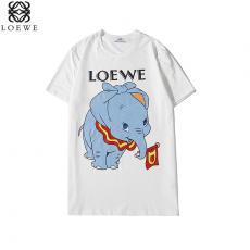 ブランド可能ロエベ LOEWE メンズ/レディース 2色 クルーネック Tシャツ 綿 カップル 人気コピーブランド代引き