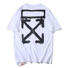 オフホワイト Off White メンズ/レディース クルーネック 綿 Tシャツ カップル 3色 人気レプリカ 代引き