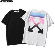 ブランド通販オフホワイト Off White メンズ/レディース カップル 2色 クルーネック Tシャツ 綿 良品コピーブランド代引き