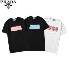 プラダ PRADA メンズ/レディース  クルーネック Tシャツ 綿 カップル 3色 新作激安代引き口コミ
