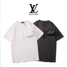 ルイヴィトン LOUIS VUITTON メンズ/レディース カップル 2色 クルーネック Tシャツ 定番人気ブランドコピー激安国内発送販売専門店