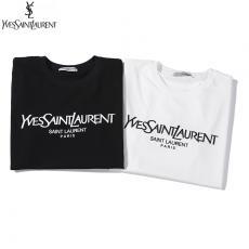 イヴ・サンローラン YSL メンズ/レディース 2色 クルーネック Tシャツ 綿  新入荷ブランドコピー安全後払い専門店