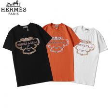 エルメス  HERMES メンズ/レディース 3色 クルーネック Tシャツ 綿 新入荷スーパーコピー激安販売専門店