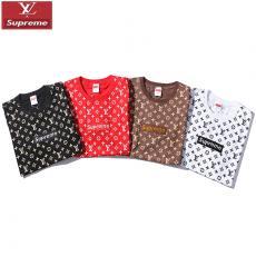 シュプリーム Supreme メンズ/レディース カップル クルーネック Tシャツ 4色 綿 人気最高品質コピー