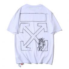 ブランド通販オフホワイト Off White カップル 2色 クルーネック Tシャツ 綿 新入荷スーパーコピー通販