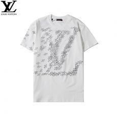 ルイヴィトン LOUIS VUITTON メンズ/レディース 2色 カップル クルーネック Tシャツ 綿 新品同様最高品質コピー代引き対応