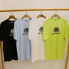 バレンシアガ BALENCIAGA メンズ/レディース カップル クルーネック Tシャツ 綿 6色  おすすめブランドコピー国内発送専門店