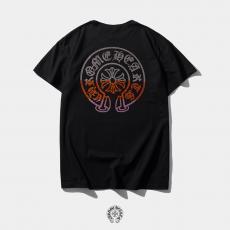 クロムハーツ Chrome Hearts メンズ/レディース クルーネック Tシャツ 綿 定番人気スーパーコピーブランド
