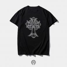 クロムハーツ Chrome Hearts メンズ/レディース クルーネック Tシャツ 綿 高評価スーパーコピー国内発送専門店