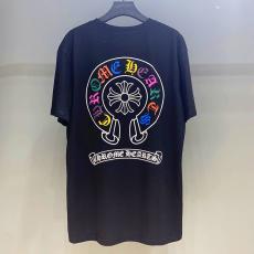 ブランド安全クロムハーツ Chrome Hearts メンズ/レディース カップル 2色 クルーネック Tシャツ 綿 新入荷ブランドコピー代引き可能
