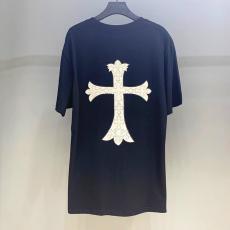 クロムハーツ Chrome Hearts メンズ/レディース カップル クルーネック Tシャツ  綿 3色 新作ブランドコピー代引き可能