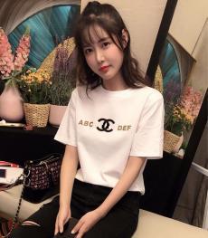 ブランド販売シャネル CHANEL メンズ/レディース 2色 クルーネック Tシャツ 綿 新品同様スーパーコピー激安安全後払い販売専門店