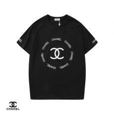 シャネル CHANEL メンズ/レディース 2色 クルーネック 綿 Tシャツ カップル 定番人気スーパーコピー通販