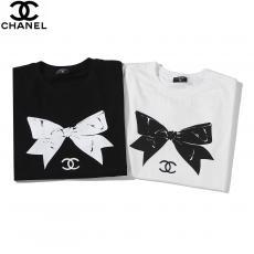 ブランド後払いシャネル CHANEL レディース 2色 クルーネック 綿 Tシャツ 2020年新作コピー代引き