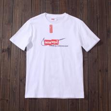 シュプリーム Supreme メンズ/レディース カップル 2色 クルーネック Tシャツ 綿 NIKE 美品レプリカ販売口コミ