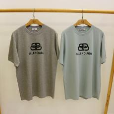 バレンシアガ BALENCIAGA メンズ/レディース カップル 2色 クルーネック Tシャツ 綿 おすすめレプリカ 代引き