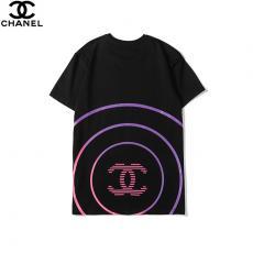 シャネル CHANEL メンズ/レディース カップル 2色 クルーネック Tシャツ 綿 新入荷スーパーコピーブランド激安販売専門店
