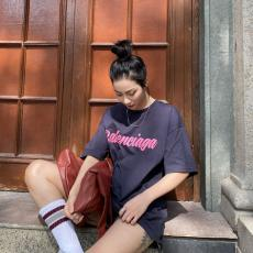 バレンシアガ BALENCIAGA メンズ/レディース クルーネック Tシャツ 綿 高評価激安代引き口コミ