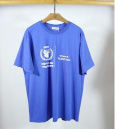 ブランド安全バレンシアガ BALENCIAGA メンズ/レディース カップル 4色 Tシャツ 綿 クルーネック 2020年春夏新作スーパーコピーブランド代引き