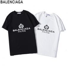 バレンシアガ BALENCIAGA メンズ/レディース カップル 2色 クルーネック Tシャツ 綿 人気スーパーコピーブランド
