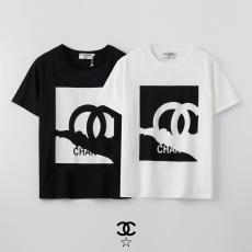 ブランド後払いシャネル CHANEL メンズ/レディース カップル 2色 クルーネック 綿 Tシャツ おすすめスーパーコピー国内発送専門店