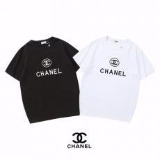 シャネル CHANEL メンズ/レディース 2色 Tシャツ 綿 クルーネック 高評価スーパーコピー激安安全後払い販売専門店