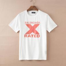 ブランド安全バレンシアガ BALENCIAGA メンズ/レディース 2色 クルーネック カップル Tシャツ 綿 2020年新作スーパーコピー代引き