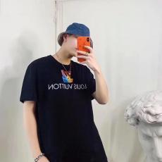 ルイヴィトン LOUIS VUITTON メンズ/レディース クルーネック 2色 Tシャツ 綿 新入荷激安 代引き口コミ