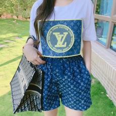 ブランド通販ルイヴィトン LOUIS VUITTON メンズ/レディース カップル 2色 クルーネック Tシャツ 綿  人気コピーブランド激安販売専門店