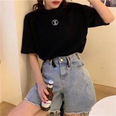 ブランド通販ルイヴィトン LOUIS VUITTON カップル 2色 クルーネック Tシャツ 綿 メンズ/レディース  新作激安販売専門店