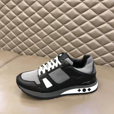 累積売上額TOP10 ヴィトン LOUIS VUITTON  メンズ夏牛革運動靴スニーカー快適モノグラム2色スーパーコピー工場直売専門店