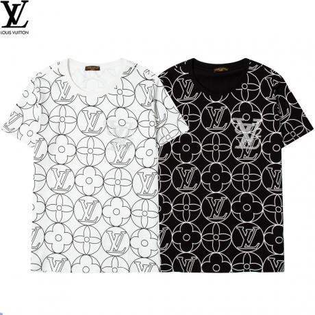 ヴィトン LOUIS VUITTON  字母ロゴ ファッション新作半袖プリント口コミ激安代引き工場直営