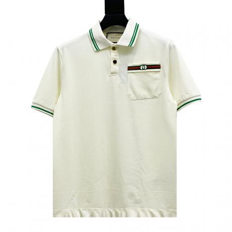 グッチ GUCCI 綿半袖Polo衫刺繍本当に届くブランドコピー工場直営国内安全後払い代引き通販サイトline
