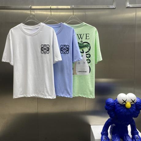 上品 ロエベ LOEWE 春夏新作快適柔軟 Tシャツ半袖3色ブランドコピー 代引き工場直売届くおすすめ